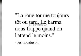 Citation Karma La Roue Tourne