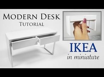 Miniature Modern IKEA Desk Tutorial