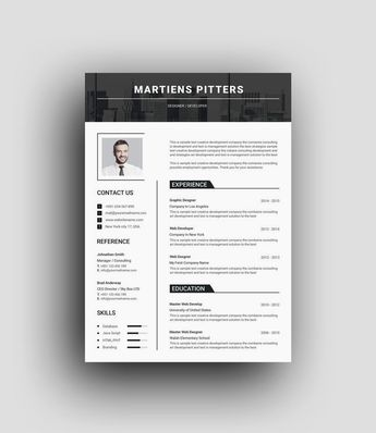 Milan Clean Professional Resume Template - Graphic Templates