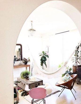 67 Trendy Apartment Living Room Boho Indoor Hammock #apartment #livingroom