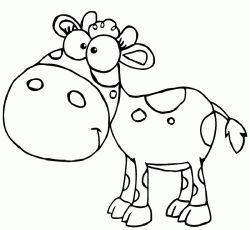 Inek Boyama Sayfası Cow Coloring Pages Free Printable
