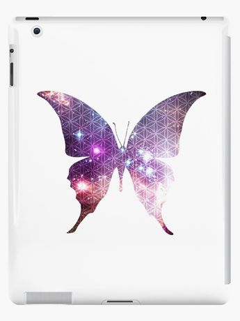 'The Sacred Nebula Butterfly, Sacred Geometry Space Art' iPad Case/Skin by ChaosEmporium