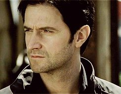 """Richard Armitage as Lucas North in Spooks. """"What's that crazy woman doing over there? And why is she waving at ME?"""""""