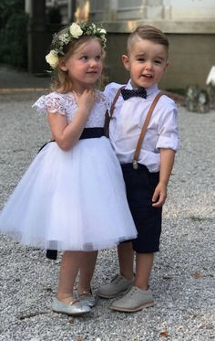 Boys Navy Bow Tie Leather Suspender Set, Ring Bearer, 1st Birthday Boy, Boys Clothes, Ring Bearer Outfit, Rustic Wedding, Navy Wedding, Boys