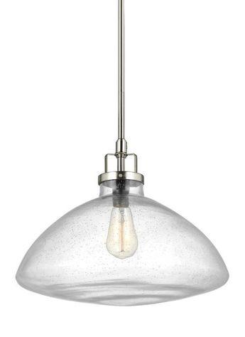 Sea Gull Lighting 6614501-962 Belton Outdoor Hanging Light, Brushed Nickel