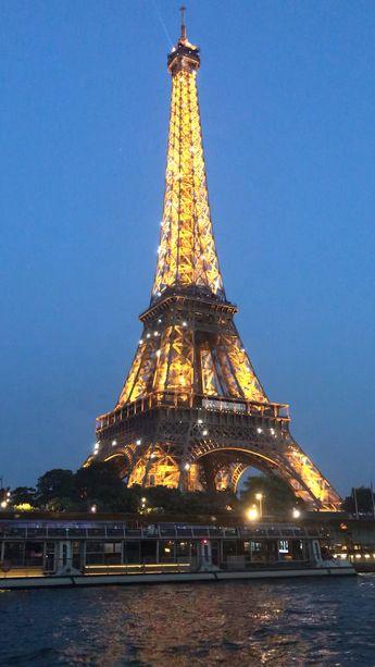 Eiffel Tower lit up!!!!