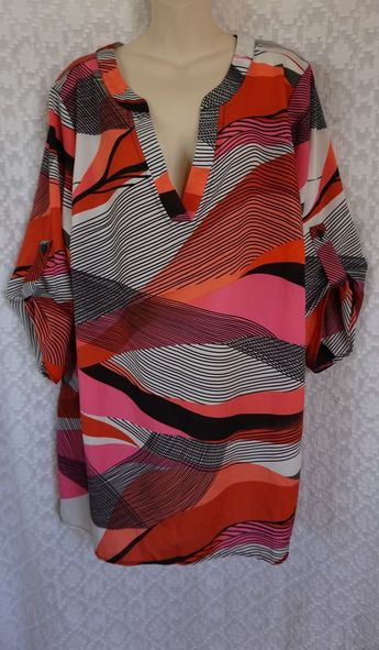 Cato Stripped Multicoloured Size 6 Dress