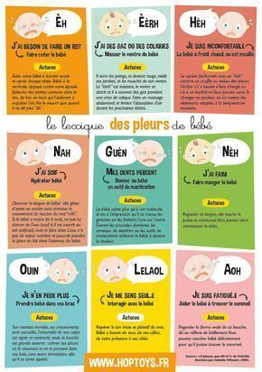 Infographie : Pourquoi bébé pleure