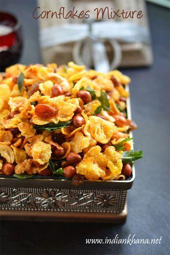 Indian Khana: Cornflakes Mixture   Cornflakes Chivda Recipe   Easy Diwali Snacks Recipes