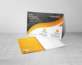Wave Creative Corporate Postcard Template - Graphic Templates