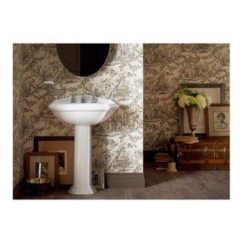 "Portrait® Ceramic 27"" Pedestal Bathroom Sink with Overflow"