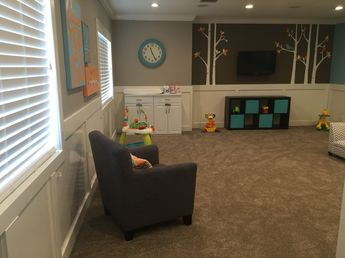 Open floor plan for Adobe Church nursery. Came out perfect!