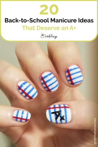20 Back-to-School Manicure Ideas That Deserve an A+: Here are 20 creative nail art ideas to get excited for back-to-school season.