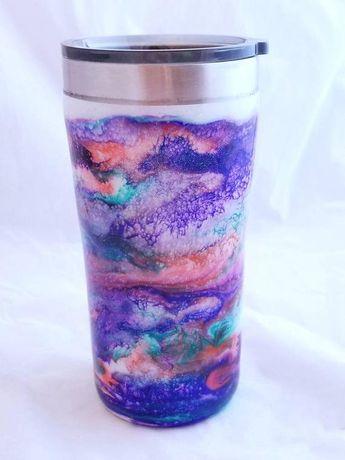 1e233eb16c0 Galaxy Tumbler - Tumbler Art - Glitter Tumbler - Alcohol Ink Tumbler - Alcohol  Ink Art