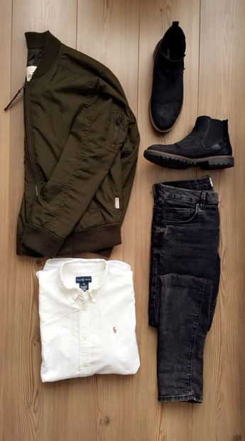 Flatlay Men's Street Style Fashion look