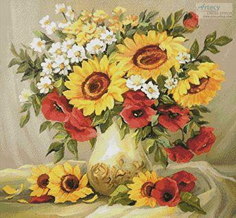 Flowers of Summer - cross stitch pattern designed by Tereena Clarke. Category: Flowers.