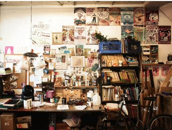 The studio of illustrator Grady Mcferrin