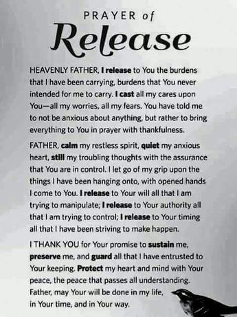 Prayer of Release                                                                                                                                                                                 More