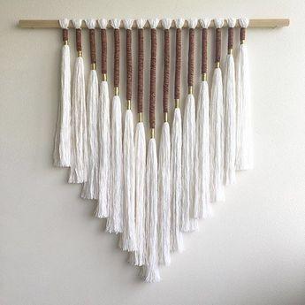 DIY Yarn Wall Hanging - Oversized Boho Tapestry Tutorial