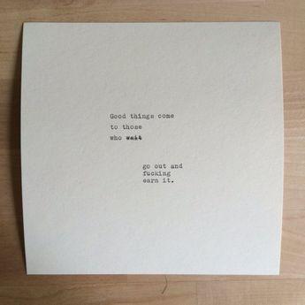 Hand Typed Quote On Vinatge Typewriter