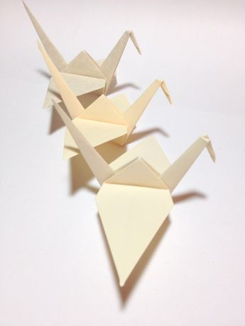 Origami Blaetter , Formal Wedding Theme Black Origami Crane Cake Topper Or,
