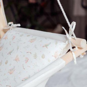 Baby linen indoor and outdoor swing BIRDS hanging cradle | Etsy