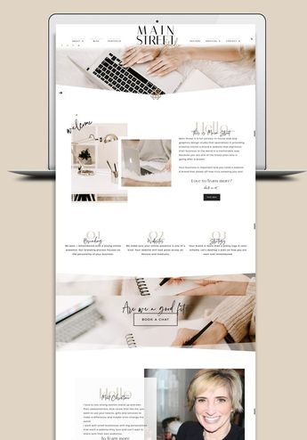 A refreshing and clean design for Main Street Web Studio using soft, neutral colors with custom fonts. - #WebDesign #webdesignFooter #webdesignFurniture #webdesignSchool