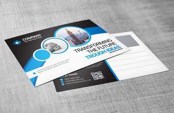 Business Postcard Design 002754 - Template Catalog