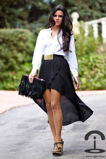 b397a40a1ffd Hi-low skirt outfit idea  5. Wear your hi-low skirt with