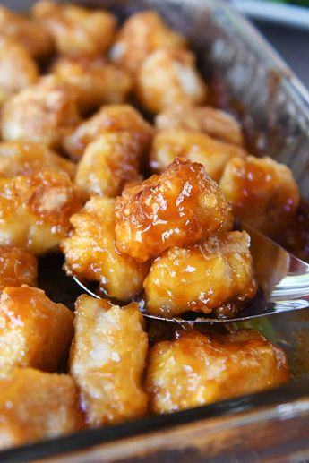 Baked Sweet and Sour Chicken - #Baked #Chicken #Sour #Sweet