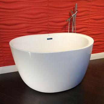 "Vizcaya Premiere Fukuoka 48"" x 32"" Freestanding Soaking Bathtub 