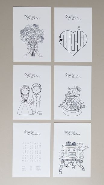 Print these free coloring pages for the kids at your wedding!