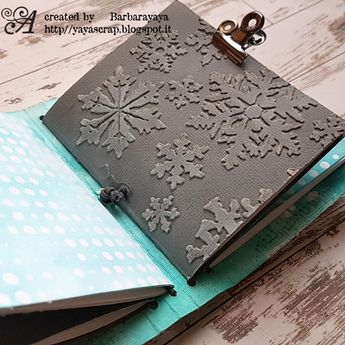 WRAPPED JOURNAL SNOW | Academy of Scrapbooking and arts