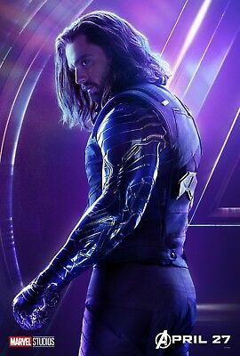 Details about Avengers: Infinity War Movie Poster (24x36) - Winter Soldier, Sebastian Stan v13