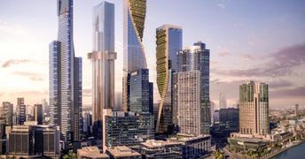 """UNStudio unveils twisting """"Green Spine"""" high-rise proposal for Melbourne"""