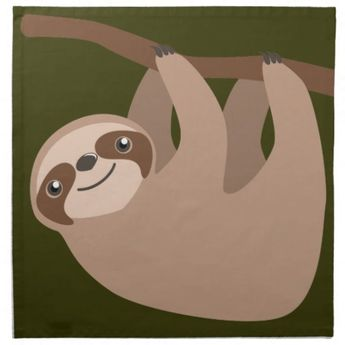 Cute Three-Toed Sloth