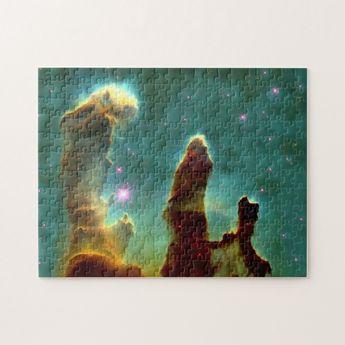Eagle Nebula Pillars in Beautiful Outerspace Jigsaw Puzzle | Zazzle.com