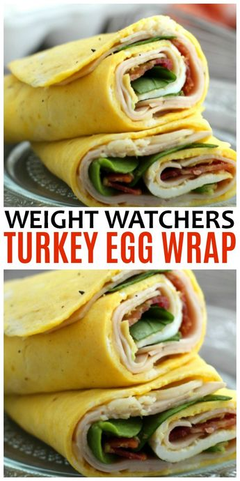 This Weight Watchers Turkey Egg Wrap is perfect for any meal and features an omelet like egg wrap instead of a tortilla & only 4 Freestyle SmartPoints. #WW #weightwatchers #WWfreestyle #eggs via @sweeterbydesign