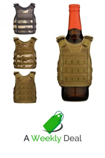 Sometimes you have to guard your beer like you guard your life, so let our Mini Tactical Vest Beer Koozie be your shield. Designed to capture the look of authentic military issue tactical gear, each Mini Tactical Vest Beer Koozie is made from durable polyester, equipped with adjustable hooks and loop fields.
