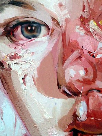 jenny saville ---- The eye in this painting is displaying so much raw emotion. Along with the tones of red and pink the audience instantly recognises the sadness present. I want to create this same instant effect in my images.