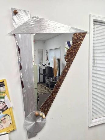 contemporary mirror and brown mirror in abstract mirror style
