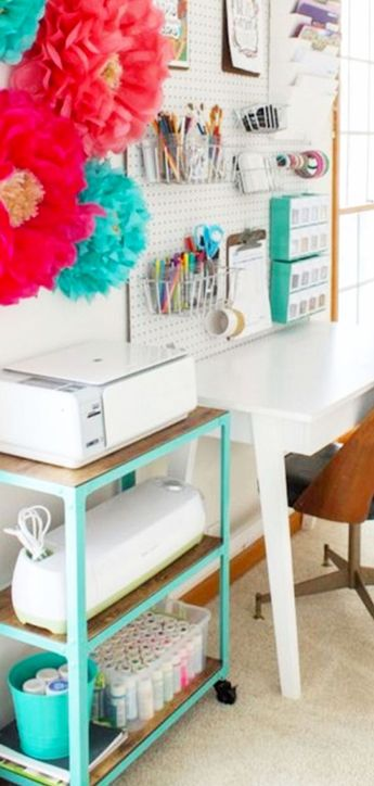 DIY Craftroom Organization - Unexpected & Creative Ways to Organize Your Craft Room on a Budget