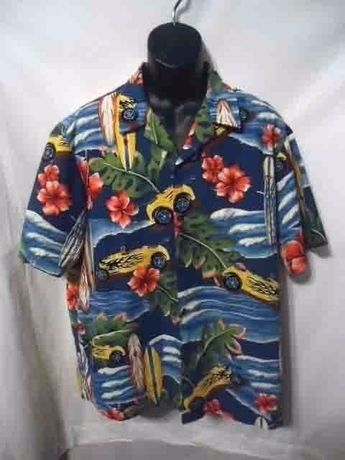 8b347983f Vintage Styled By RJC Ltd Hawaiian Shirt Surfboards And Hotrods Mens XL