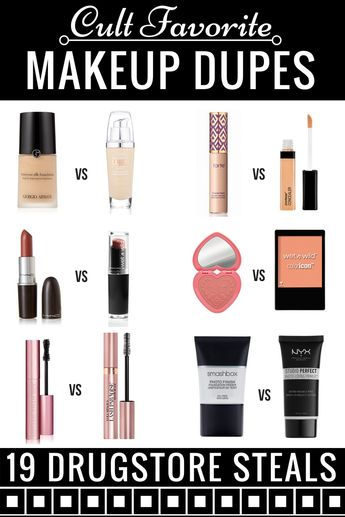 Drugstore Makeup Dupes: 19 High End Makeup Hacks Brands Don't Want You to Know
