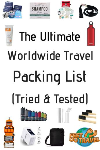 Ultimate Packing List for Worldwide Travel