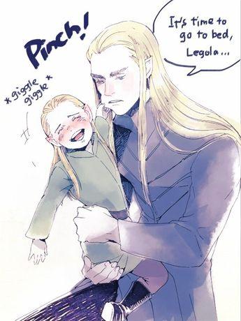 Haldir and Galadriel, Arwen and Elrond