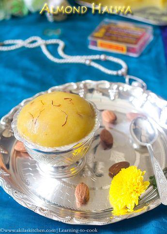 Badam Halwa | Easy Badam Halwa Recipe | Almond Halwa | Indian Sweets | Diwali Recipes | Indian Festival Recipes | Indian Dessert Recipes | Diwali Sweets | Holi sweets | Badam recipes | Almond recipes