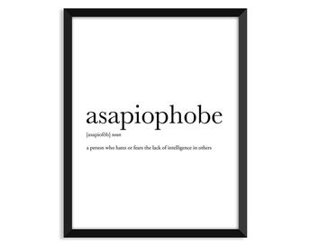 Canadians definition, art poster, dictionary art print, office decor, minimalist poster, funny defin