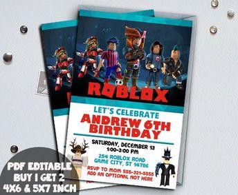 Roblox Birthday Invitation Digital Printable Party