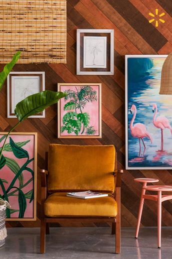 Velvet mid-century modern furniture, pops of pink & tropical prints bring maximum personality to your space.  Drew's new collection is full of eclectic treasures you'll love in your own home.